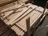 Cylindrical pine stakes (pegging) for gardering - фото 3