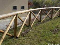 Round poles (pins, logs, bars ) made of pine. - photo 3