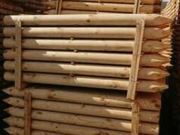 Cylindrical pine stakes (pegging) for gardering - photo 5
