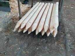 Round poles (pins, logs, bars ) made of pine. - photo 1